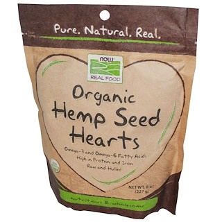 Now Foods, Real Food, Organic, Hemp Seed Hearts, 8 oz (227 g)