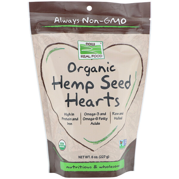 Now Foods, Real Foods, Organic Hemp Seed Hearts, 8 oz (227 g)