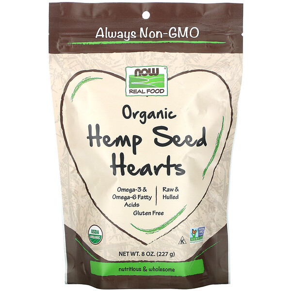 Real Food, Organic Hemp Seed Hearts, 8 oz (227 g)