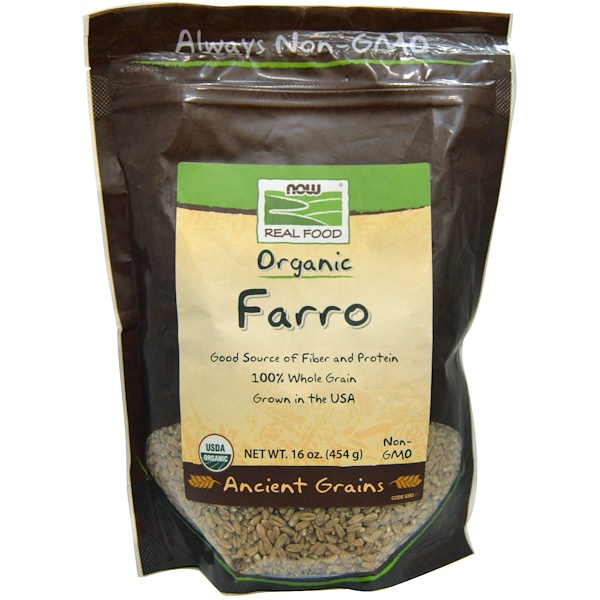 Now Foods, Organic Farro, 16 oz (454 g) (Discontinued Item)