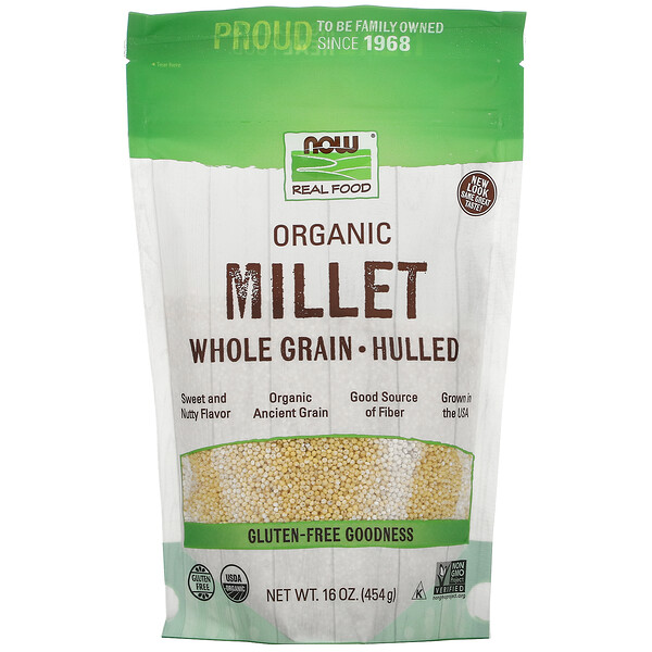 Real Food, Organic Millet Whole, Gluten Free, 16 oz (454 g)