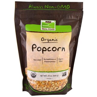 Now Foods, Real Food, Organic Popcorn, 24 oz (680 g)