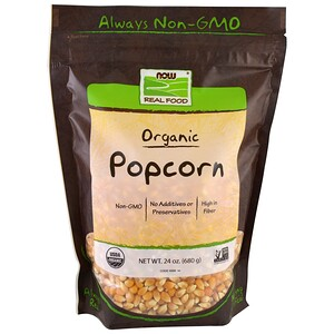 Now Foods, Real Food, Organic Popcorn, 1.5 lbs (680 g) отзывы покупателей