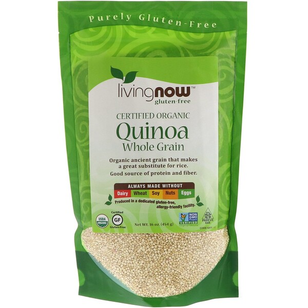 Now Foods, Organic Quinoa, Whole Grain, 16 oz (454 g)