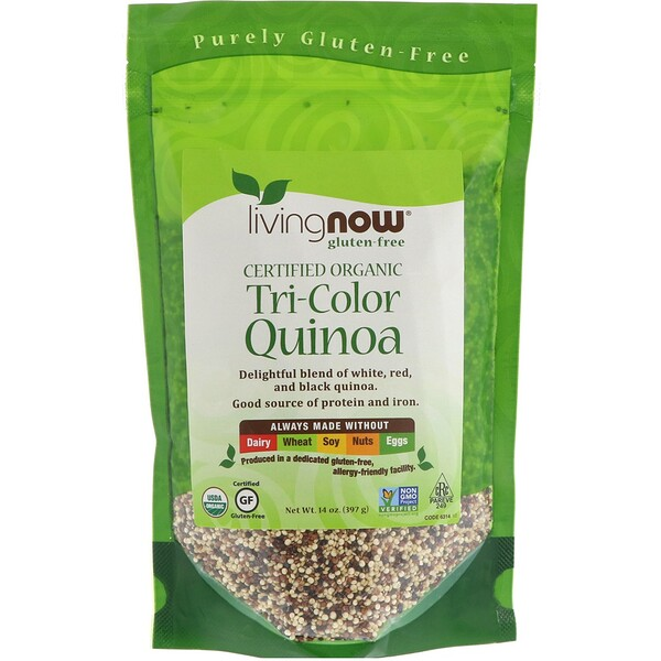 Now Foods, Organic Tri-Color Quinoa, 14 oz (397 g)