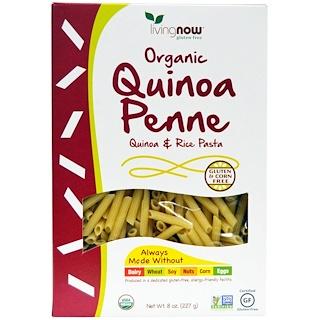 Now Foods, Penne biologiques au quinoa, pâtes au riz et au quinoa, 8 oz (227 g)