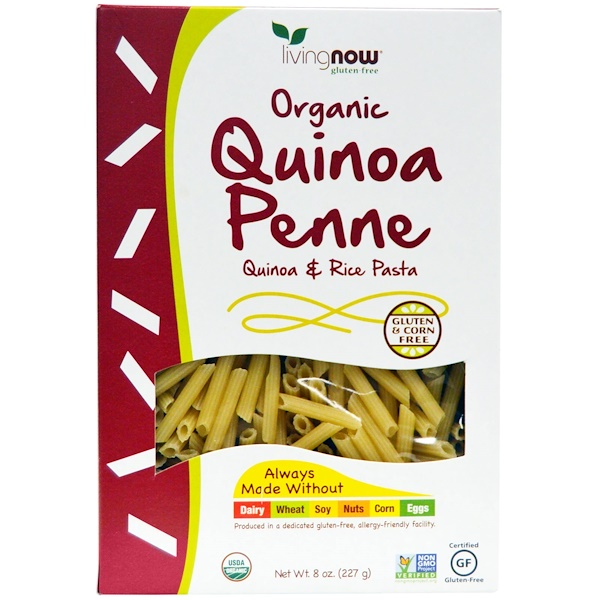 オーガニック・キノア・ペンネ, Quinoa & Rice Pasta, 8 oz (227 g)