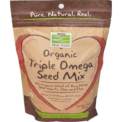 Now Foods 有機三倍Omega種子混合,12 盎司 (340 克)