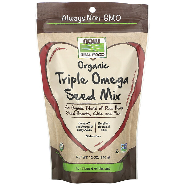 Real Food, Organic Triple Omega Seed Mix, 12 oz (340 g)