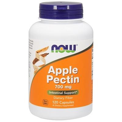 Яблочный пектин, 700 мг, 120 капсул