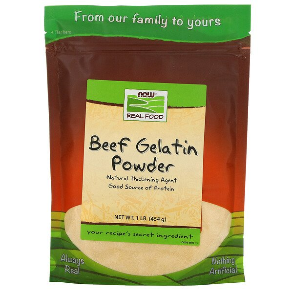 Real Food, Beef Gelatin Powder, 1 رطل (454ج)