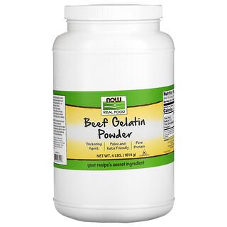 Now Foods, Real Food, Beef Gelatin Powder, 4 lbs (1,814 g)