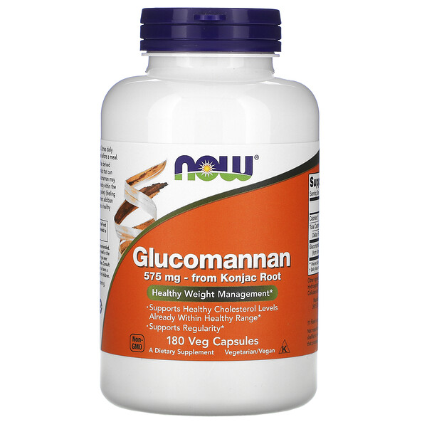 Now Foods, Glucomannan, 575 mg, 180 Veg Capsules