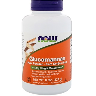 Now Foods, Glucomannan, Pó Puro, 8 oz (227 g)