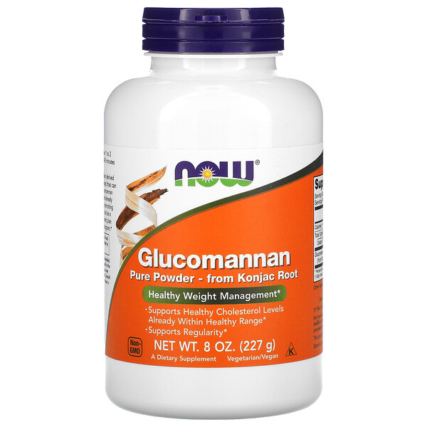 Now Foods, Glucomannan, Pure Powder, 8 oz (227 g)