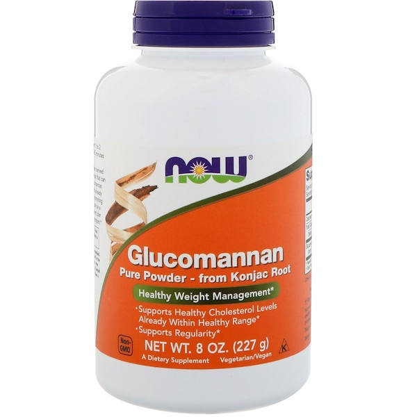 Glucomannan, Pure Powder, 8 oz (227 g)