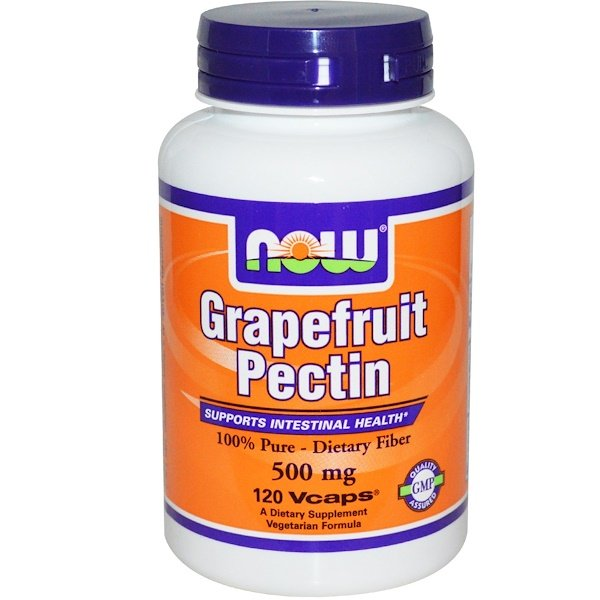 Now Foods, Grapefruit Pectin, 500 mg, 120 Vcaps (Discontinued Item)