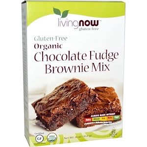 Now Foods, Real Food, Organic, Chocolate Fudge Brownie Mix, Gluten-Free, 16 oz (454 g) отзывы