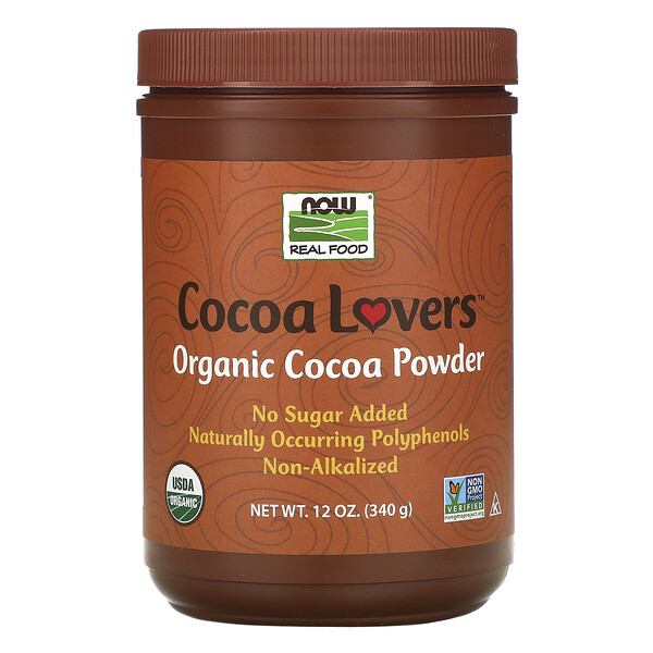 Real Food, Cocoa Lovers, Organic Cocoa Powder, 12 oz (340 g)