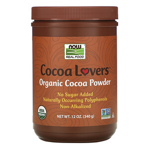 Now Foods, Real Food, Cocoa Lovers, Organic Cocoa Powder, 12 oz (340 g) отзывы покупателей