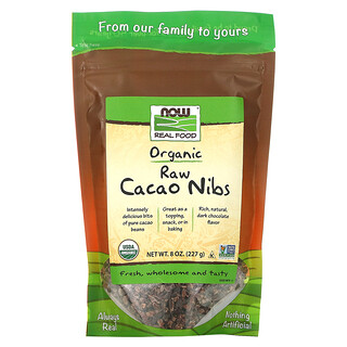 Now Foods, Real Food,有機未加工可可豆碎粒,8 盎司(227 克)