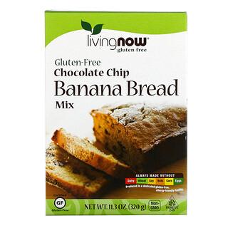 Now Foods, Chocolate Chip Banana Bread Mix, Gluten-Free, 11.3 oz (320 g)