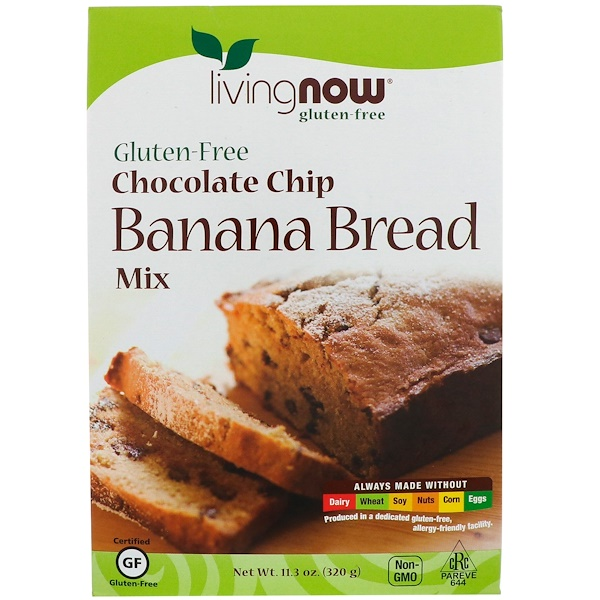 Chocolate Chip Banana Bread Mix, Gluten-Free, 11.3 oz (320 g)