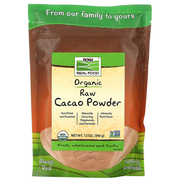 Real Food, Organic Raw Cacao Powder, 12 oz (340 g)