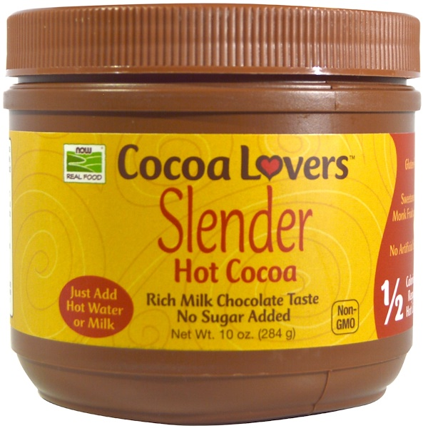 Now Foods, Slender Hot Cocoa, 10 oz (284 g)