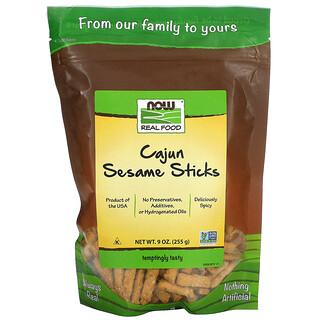 Now Foods, Echte Kost, Cajun- und Sesamsticks, 9 oz (255 g)