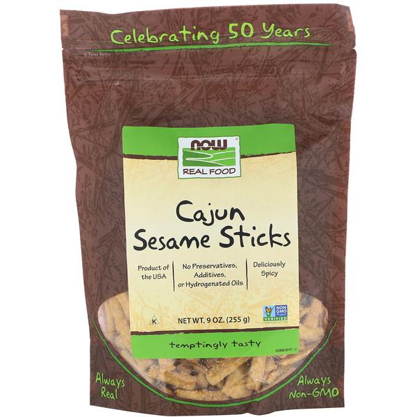 Now Foods, Real Food, Cajun Sesame Sticks, 9 oz (255 g)