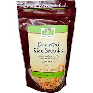 Now Foods, Real Food, Oriental Rice Snacks, 6 oz (170 g) отзывы