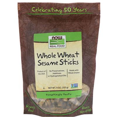Купить Real Food, палочки из цельной пшеницы и кунжута, 9 унций (255 г)