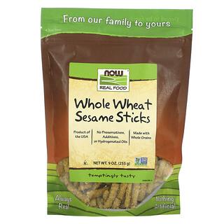 Now Foods, Echte Kost, Vollkornweizen- und Sesamsticks, 9 oz (255 g)