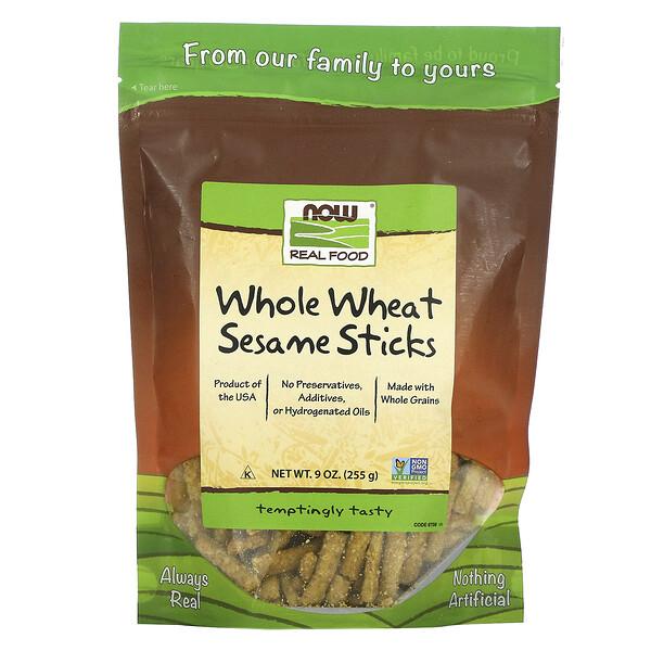 Real Food, Whole Wheat Sesame Sticks, 9 oz (255 g)