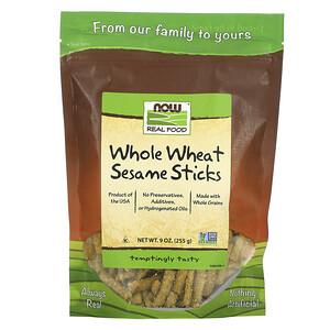 Now Foods, Real Food, Whole Wheat Sesame Sticks, 9 oz (255 g) отзывы
