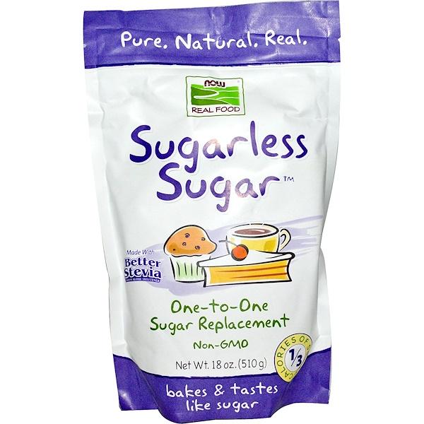 Now Foods, Real Food, Sugarless Sugar, 18 oz (510 g) (Discontinued Item)