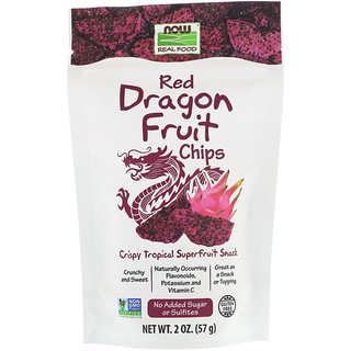 Now Foods, Real Foods, Red Dragon Fruit Chips, 2 oz (57 g)