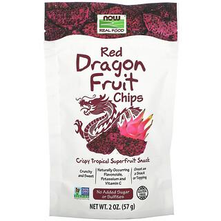 Now Foods, リアルフーズ、レッドドラゴンフルーツチップス、57g(2オンス)