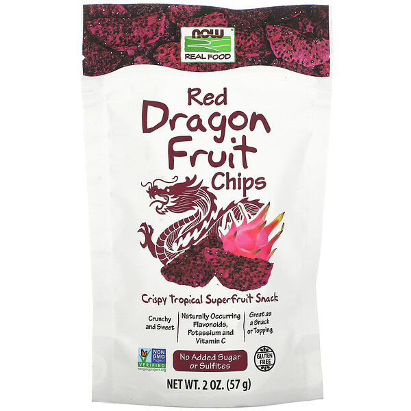 Real Foods, Red Dragon Fruit Chips, 2 oz (57 g)