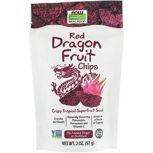 Now Foods, Real Foods, Red Dragon Fruit Chips, 2 oz (57 g) отзывы