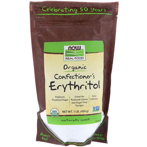 Now Foods, Organic Confectioner's Erythritol, 1 lb (454 g)