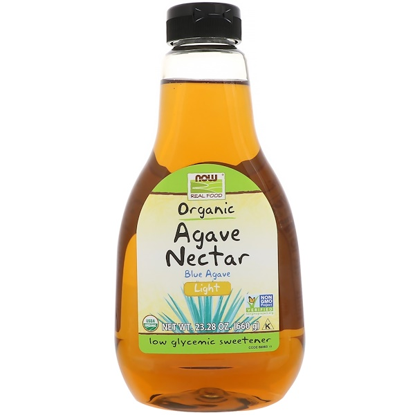 Real Food, Organic Blue Agave Nectar, Light, 23.28 oz (660 g)