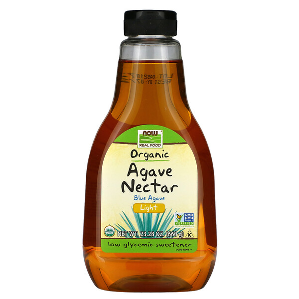 Real Food, Organic Agave Nectar, Light, 23.28 oz (660 g)