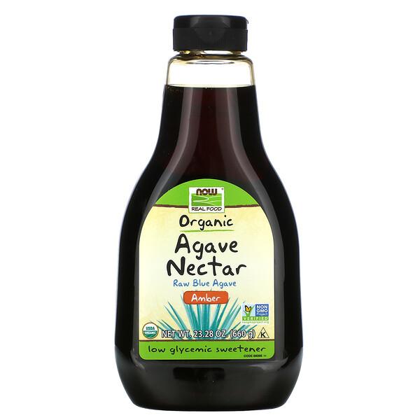 Alimento de verdad, néctar de agave orgánico, ámbar, 23.28 oz (660 g)