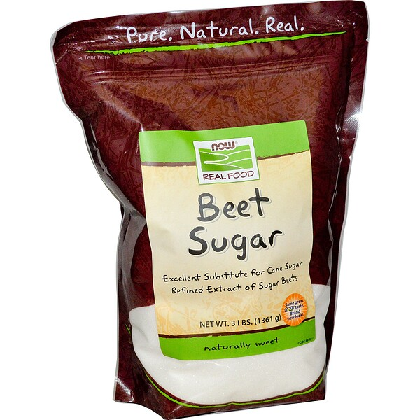 Now Foods, Beet Sugar, 3 lbs (1361 g) (Discontinued Item)