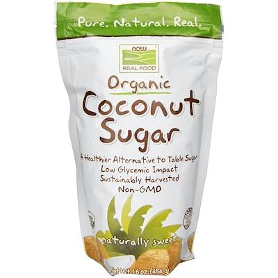 Купить Real Food, органический кокосовый сахар, 16 унций (454 г)