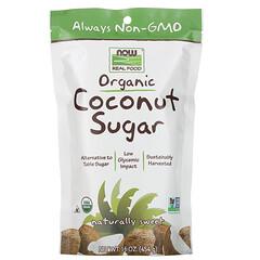 Now Foods, 真正的食物,有機椰子糖,16盎司(454克)
