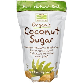 Now Foods, Real Food, Organic Coconut Sugar, 16 oz (454 g)