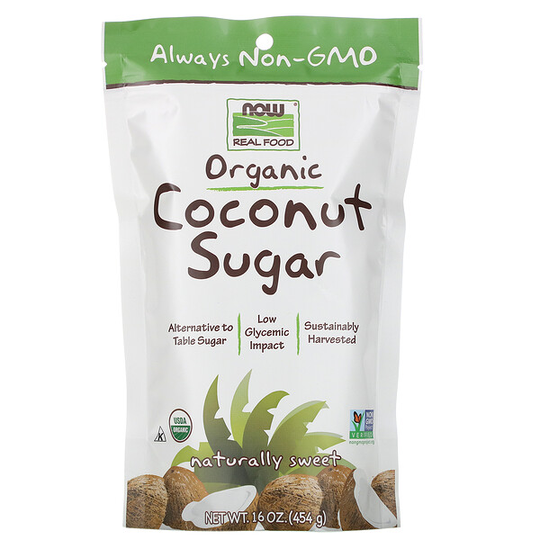 Real Food, Organic Coconut Sugar, 16 oz (454 g)